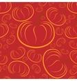 outline pumpkins seamless pattern Pumpkin vector image