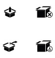 box icon set vector image