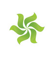green leaves swirl logo image vector image