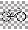 Bicycle icon on a transparent vector image