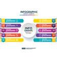 10 steps business infographic timeline design vector image vector image