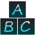 A B C glow vector image vector image