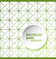 abstract molecules and 3d paper integrated vector image vector image
