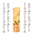 ancient egypt papyrus or stone vector image vector image