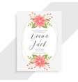 awesome vintage flower and floral wedding card vector image vector image