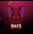 bat mascot esport logo design vector image vector image