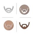 Beard icons vector image vector image