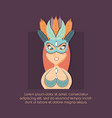 beautiful woman with mask portrait in carnival vector image