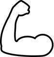 bicep line icon vector image