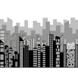black random city skyline cityscape on white vector image