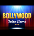 bollywood indian cinema film banner vector image vector image