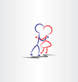 boy and girl hugging in love icon vector image