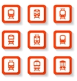 button trains set vector image vector image