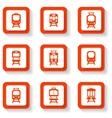 button trains set vector image vector image