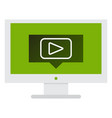 button video player social media youtube vector image vector image