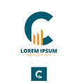 c letter based symbol for capital vector image