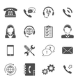 Call center service icons vector image
