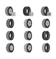 car tires wheel disk auto service icons vector image vector image
