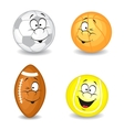 Cartoon sport balls vector image vector image