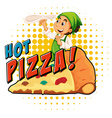 Chef making pizza dough vector image