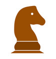 chess game horse - chess game vector image vector image