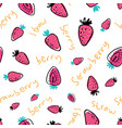childish seamless pattern with hand drawn vector image vector image