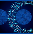 circuit board futuristic cybernetic texture with vector image vector image