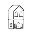 classic house facade residential icon thick line vector image vector image