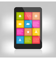 colorful design for mobile and tablet vector image vector image