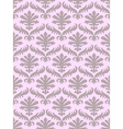 damask seamless floral pattern background vector image vector image