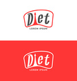 Diet logo Weight loss vector image vector image