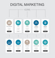 digital marketing infographic 10 steps ui design vector image vector image