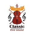 Double Bass Classic live concert emblem vector image vector image