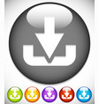 download button or icon with arrow pointing to a vector image vector image