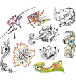 fantasy tattoo sketches vector image vector image