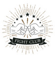 fight club logo vector image