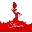 flamenco dance spain poster with headline young vector image vector image