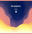 fluid gradient background design futuristic vector image vector image