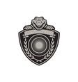 Gator Head Coat of Arms Retro vector image vector image