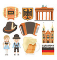 germany landmarks and cultural vector image