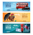 great britain travel horizontal banners vector image vector image
