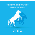 Happy new year 2014 card24 vector image