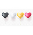 heart balloons for valentines day wedding or vector image