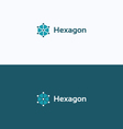 Hexagon 3D cube frame logo vector image vector image