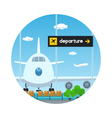 IconView on Airplane and Scoreboard Departure vector image vector image