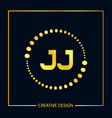 initial letter jj logo template design vector image vector image
