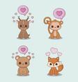 kawaii animals desing vector image vector image