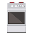 Kitchen gas stove vector image vector image