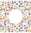 nature love harmony hearts flowers fun cartoon vector image vector image