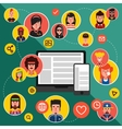 Network Avatar Flat Icon Set vector image vector image